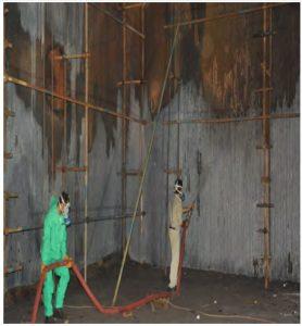 شستشوي شیمیایی لوله هاي سمت آتش بویلر نیروگاه رامین